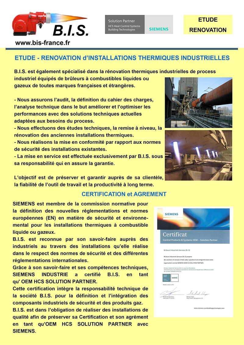 Rénovation d'installations thermiques industrielles