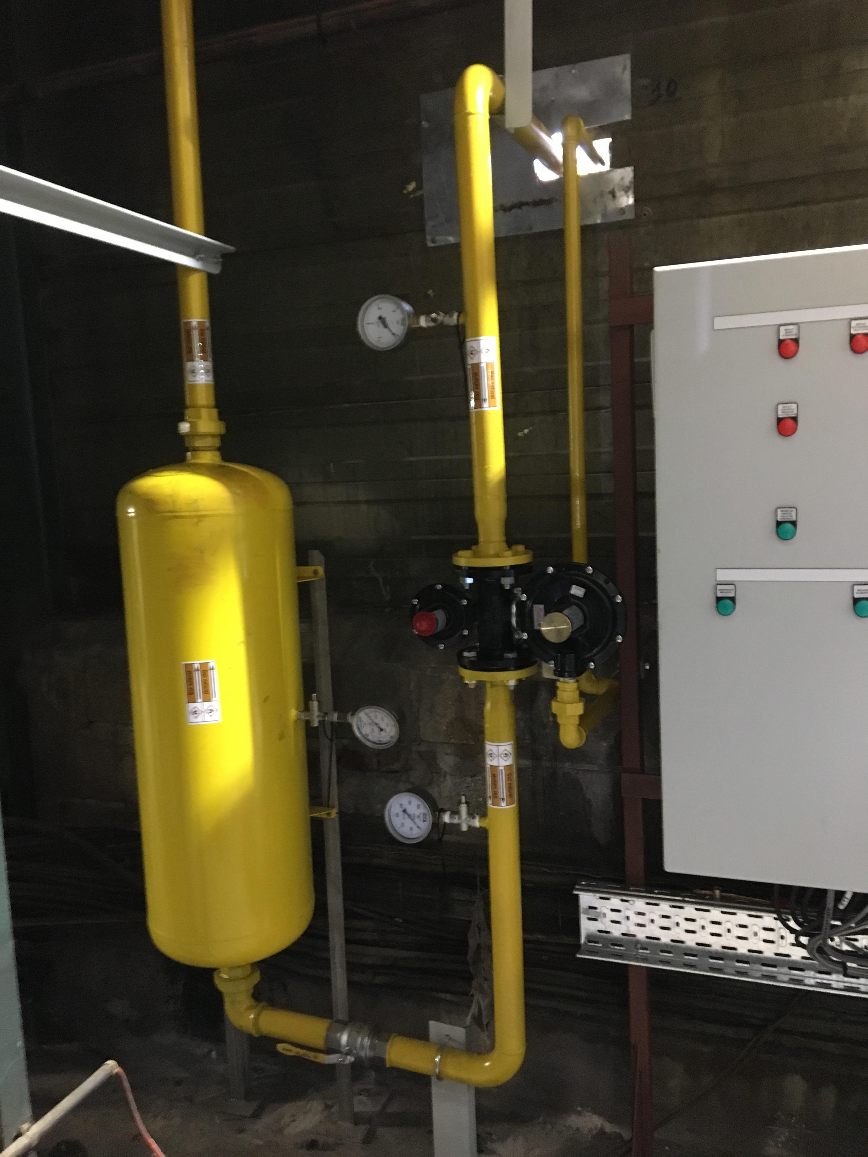 Réalisation d'un nouveau circuit de gaz en industrie