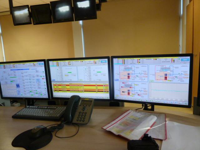 Supervision de four industriel par ordinateur